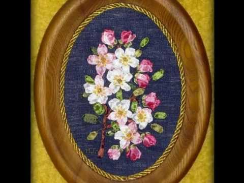Вышивка цветущей яблони
