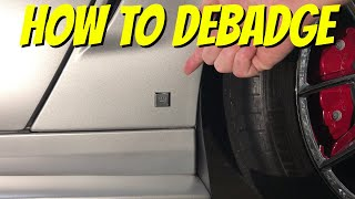 """How to remove badges & emblems from a car - Removing the GM """"chicklet"""""""