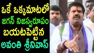 ఒక్కమాటలో జగన్ నిజస్వరూపం TDP MP Avanthi Srinivasa Rao Character Real Behaviour | Cinema Politics