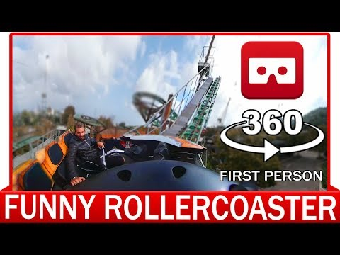 360° VR VIDEO -  360 Rollercoaster VR - FUNNY - VIRTUAL REALITY 3D
