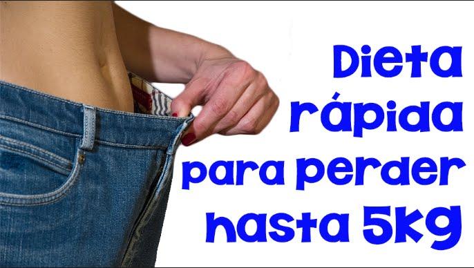 Dieta facil y economica para bajar de peso rapido