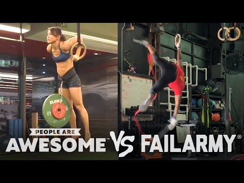 People are Awesome vs. FailArmy   Flips, Flops & More!