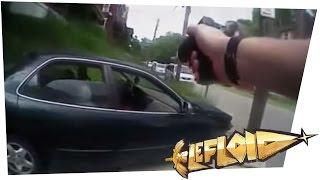 Polizist schießt ohne Grund auf Autofahrer