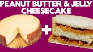 Peanut Butter & Jelly Cheesecake Recipe - Food Mashups