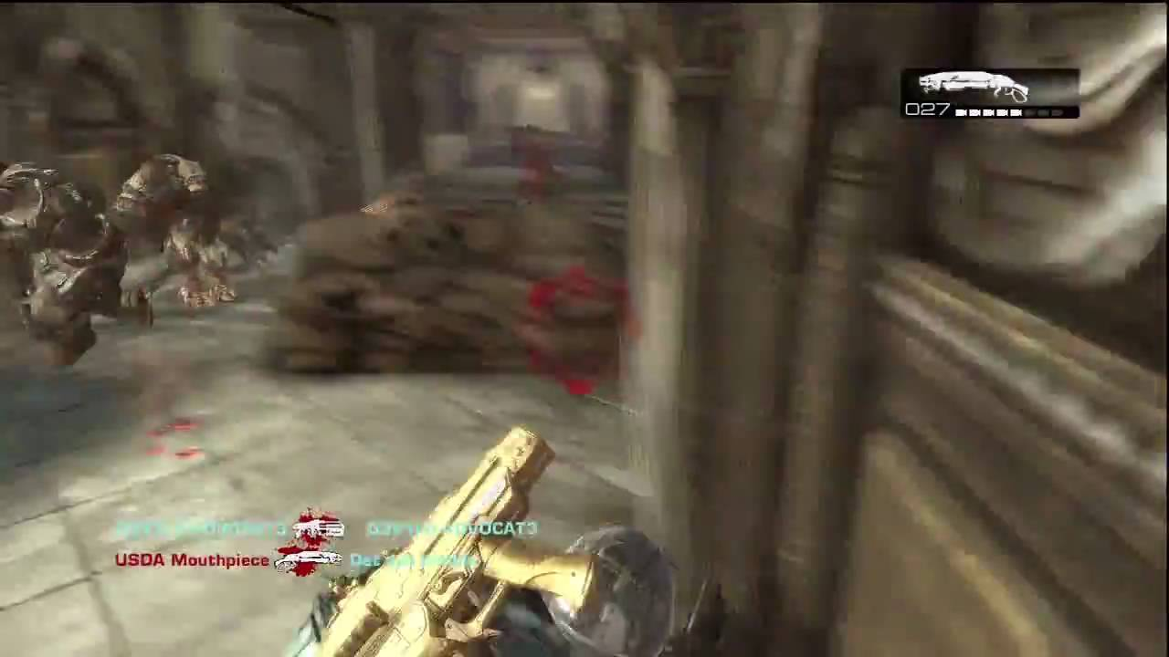 Gears Of War 2 Gold Lancer Multiplayer Game Play Hd Youtube
