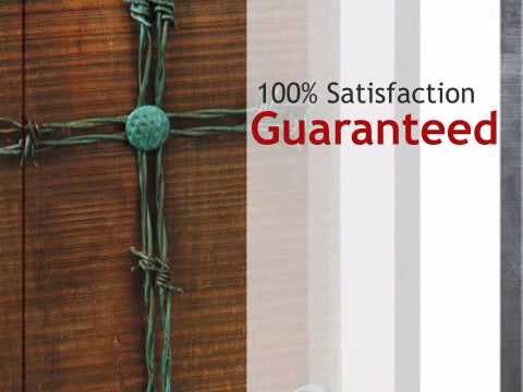 Barbed Wire Cross Plaque - lonestarwesterndecor.com