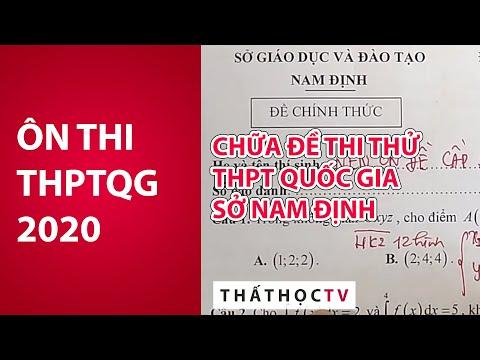 Chữa Đề Thi Thử THPTQG 2019 Sở Nam Định Siêu Hay - Ôn 2020
