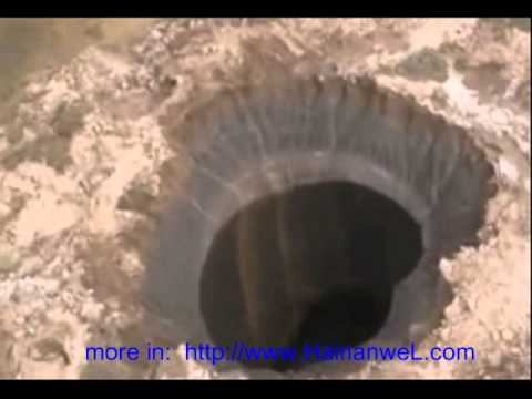 Giant cylindrical hole Yamal-Nenets Autonomous District, Russia Гигантская цилиндрическая дыра