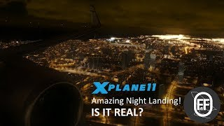 737 X-Plane 11 Night landing | Get this Graphics for FREE!
