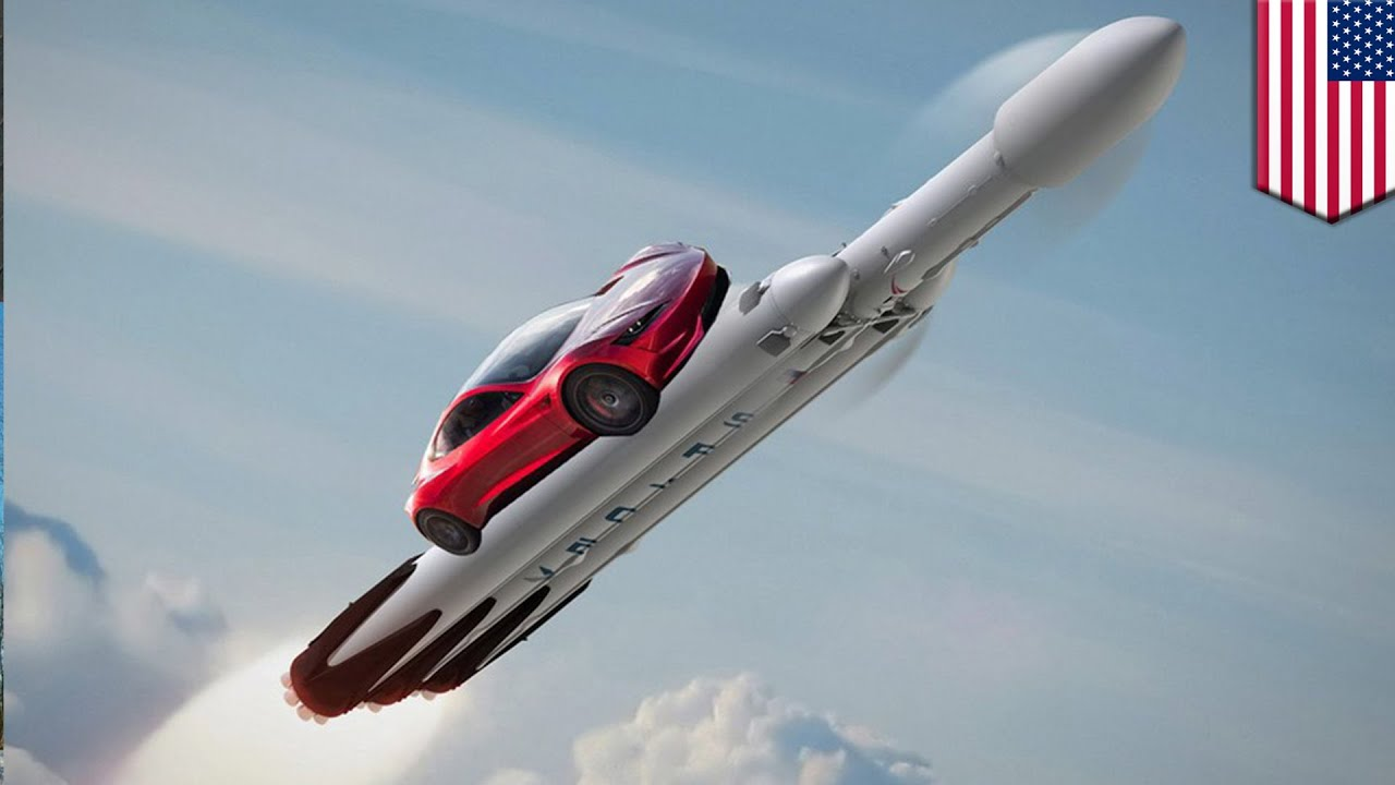 Elon Musk Car In Spac Wallpaper Falcon Heavy Spacex To Launch Elon Musk S Car Onboard