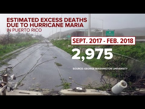 Puerto Rico suffered much higher death toll from Hurricane Maria