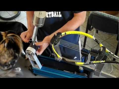 Tennis Racket Stringing for beginners by a beginner using the Gamma X-2 Gamma Progression II