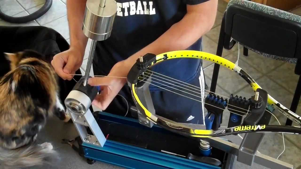 Tennis Stringing Machine >> Tennis Racket Stringing For Beginners By A Beginner Using The Gamma X 2 Gamma Progression Ii