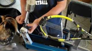 Tennis Racket Stringing for beginners by a beginner using the Gamma X-2 Gamma Progression II