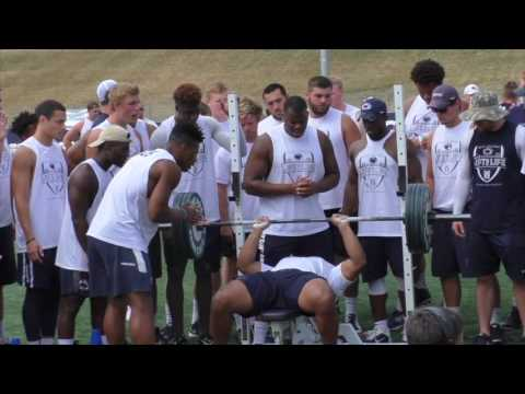 Penn State football: Watch former Bishop McDevitt star Andre Robinson win the bench press competitio