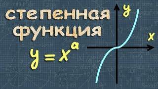 СТЕПЕННАЯ ФУНКЦИЯ алгебра 10 11 класс видеоурок