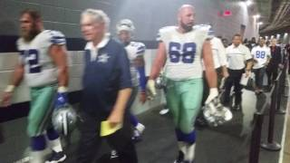 Cowboys head to the locker room after defeating the Eagles - 10-30-16 - Cowboys Blitz