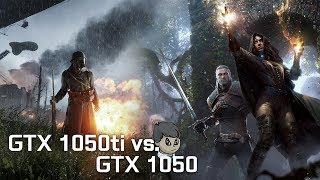 GTX 1050 ti vs GTX 1050 \ Comparison with 12 Games \ GTA V to F1 2017