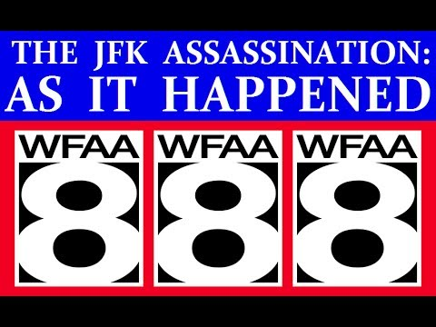 JFK'S ASSASSINATION (WFAA-TV [DALLAS] COVERAGE) (PART 1)
