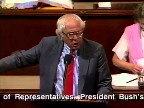 """No I Won't Yield"" -- Bernie Sanders: Where Is the Leadership? (6/4/1992)"