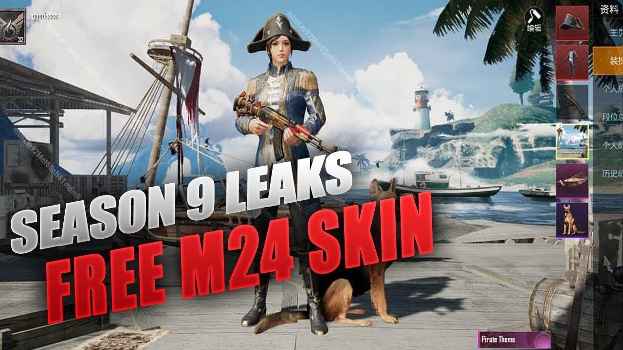 Season 9 Leaks Get Free M24 Skin Pirate Theme Skin Pubg Mobile