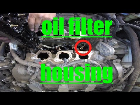 Major LEAK Oil Filter Housing Replacement Chrysler Town & Country √ Fix It Angel