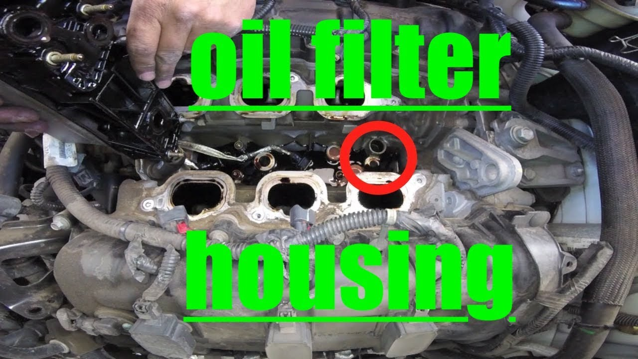 Major LEAK Oil Filter Housing Replacement Chrysler Town & Country √ Fix It Angel  YouTube
