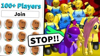 I got 100+ FANS to RAID an INNOCENT ROBLOX GAME