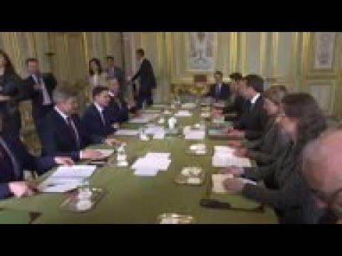 Ukraine presidential candidate meets Macron
