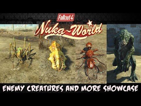 Nuka World Enemy Creature Showcase (Fallout 4 Nuka World)  