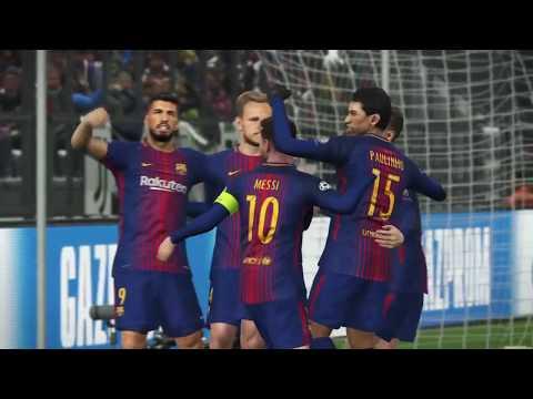 Juventus - Barcelona Bajnokok Ligája Mérközés (PES 2018)