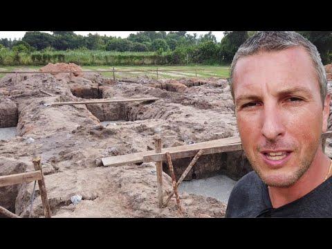 Hausbau in Thailand - Fundament erstellen und Fundament gießen