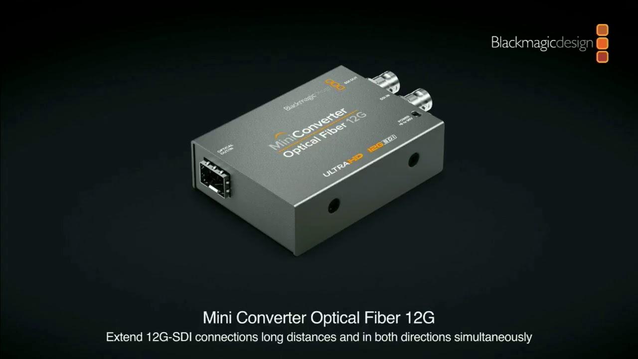 Blackmagic Design Mini Converter Optical Fibre 12g Nab 2018 Press Conference Youtube