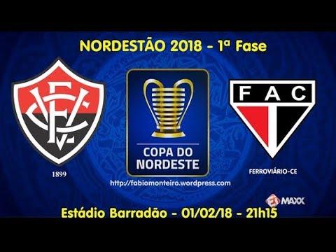 Vitória 4 x 1 Ferroviário - Gols e Melhores Momentos (01/02/2018) Copa do Nordeste