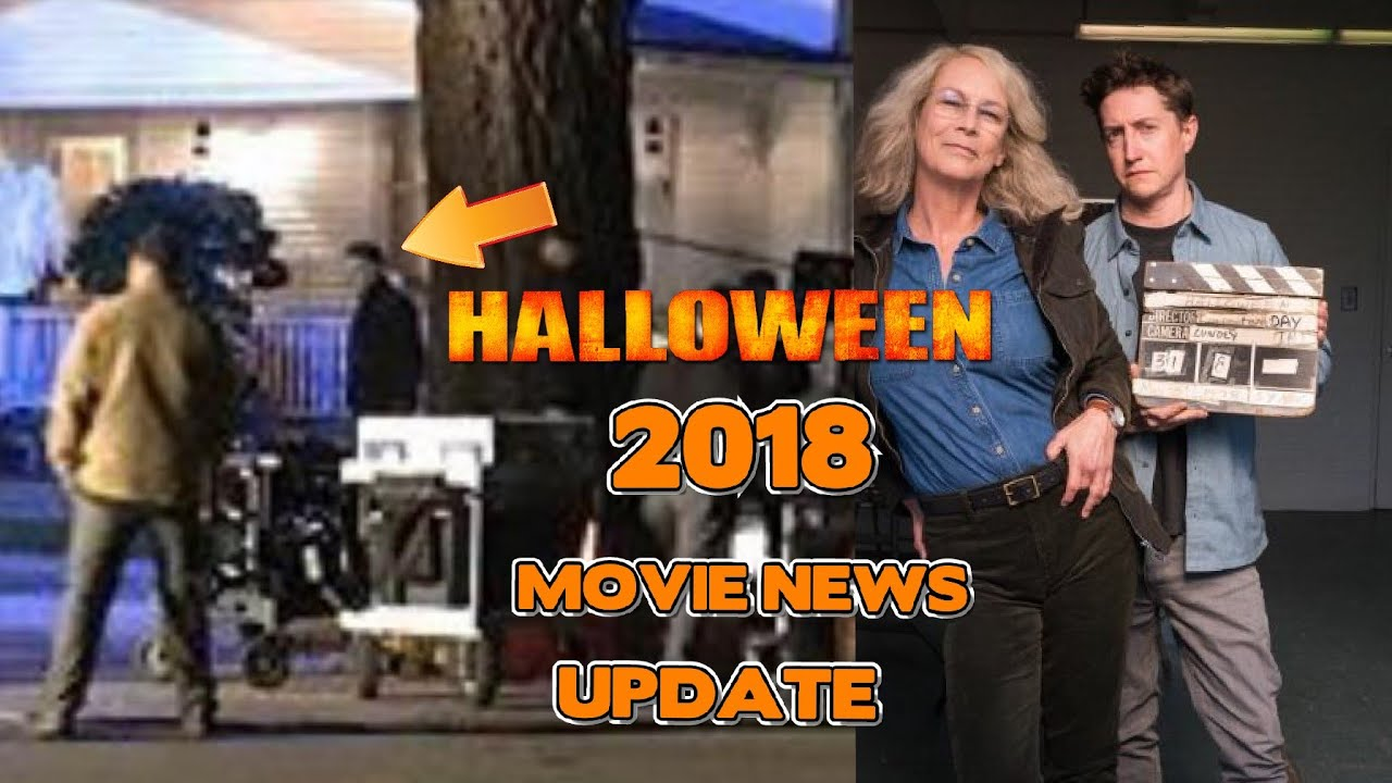 halloween 2018 laurie strode new look and on set photos movie news update