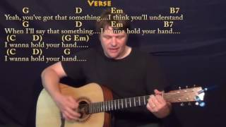 I Want to Hold Your Hand (The Beatles) Strum Guitar Cover Lesson with Chords/Lyrics