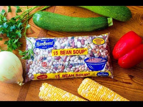 Instant Pot Summer Vegetable 15 BEAN SOUP
