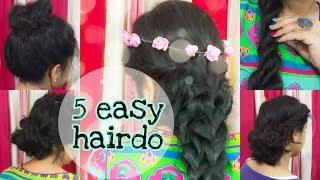 easy hairstyle  last minute  medium hair  long hair  elegant hairdo