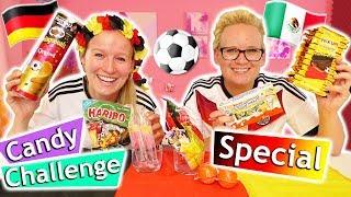 WM 2018 ⚽ Candy Challenge Special 🇩🇪 Kathi & Eva testen WM Snacks & tippen Deuschland - Mexico