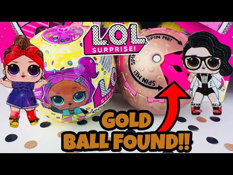 GOLD BALL + HEAT COLOR CHANGE!! LOL SURPRISE CONFETTI POP SERIES 3 | L.O.L SURPRISE BIG SISTER DOLLS