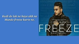 Freeze Lyrics – Rajat Nagpal upload By Lyrics TV