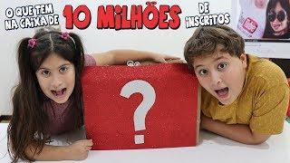 O QUE TEM NA CAIXA DE 10 MILHÕES DE INSCRITOS? - Preparativos para a festa da Maria Clara e JP