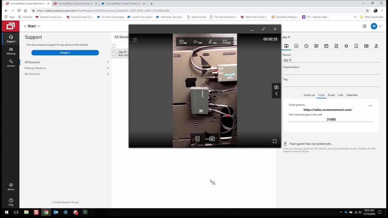 ConnectWise Control Demo: ConnectWise View