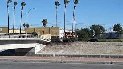 Westbound KCS intermodal train in Laredo, TX