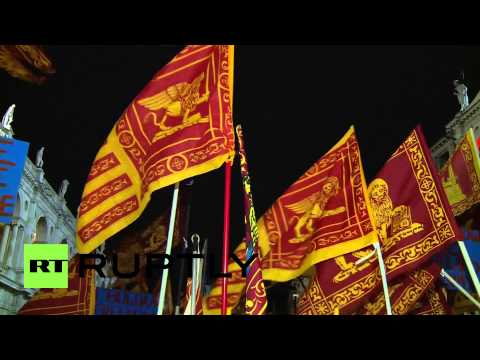 Italy: Protesters rally for Veneto independence