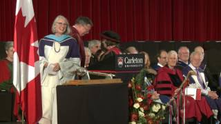 Louise Penny awarded degree Doctor of Literature (Carleton University, 150th Convocation)