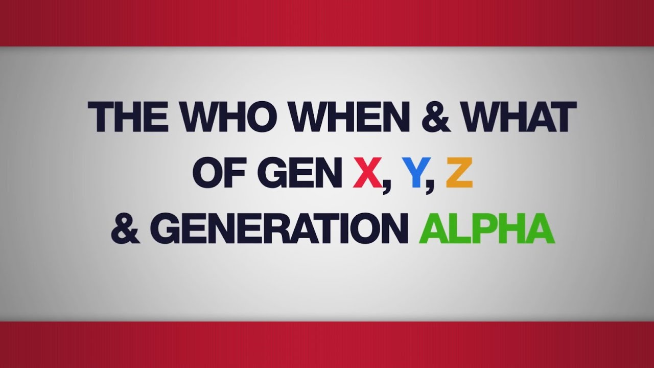 The Who, When and What of Gen X, Y, Z & Generation Alpha - Mark ...
