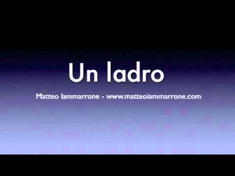Un ladro - M.Iammarrone