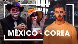 DÍA DE MUERTOS EN MÉXICO vs HALLOWEEN EN COREA (ft Jeks y Juanes Velez) | enriquealex