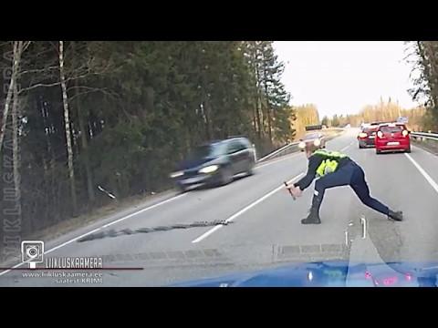 Policyjna kolczatka - uciekający szaleniec 1-0